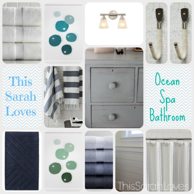 Ocean Spa Bathroom #thissarahloves