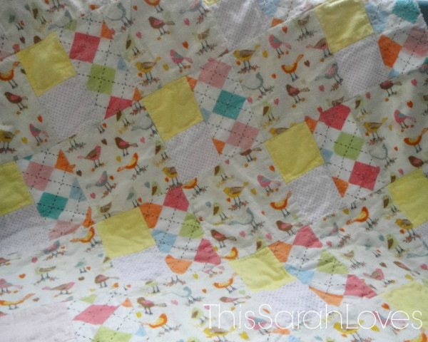Little Birdy Rag Quilt - Back