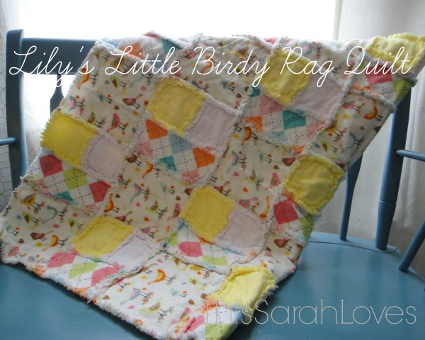 Little Birdy Rag Quilt