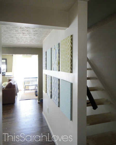 Canvas Wall from the Entry #thissarahloves