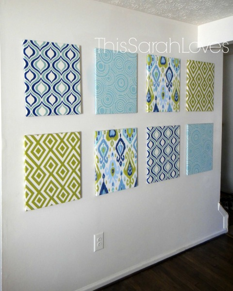 Canvas Wall in the Dining Room #thissarahloves