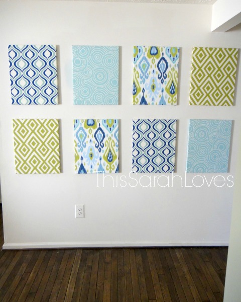 Canvas Wall view form the Dining Room #thissarahloves