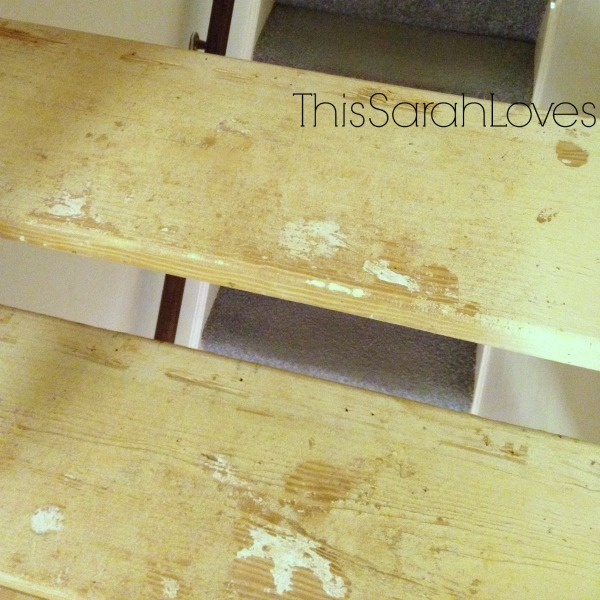 Naked Stairs - Carpet Removal Success - #thissarahloves