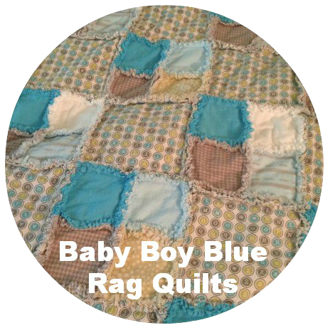 Fave Posts - Baby Boy Blue Rag Quilt