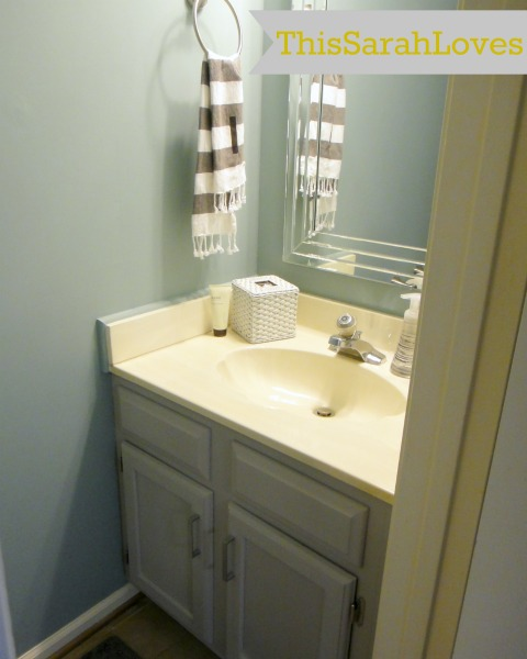 Powder Room - Cabinet Painted with Mirror
