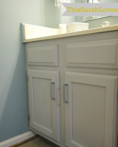 Powder Room - Cabinet Painted