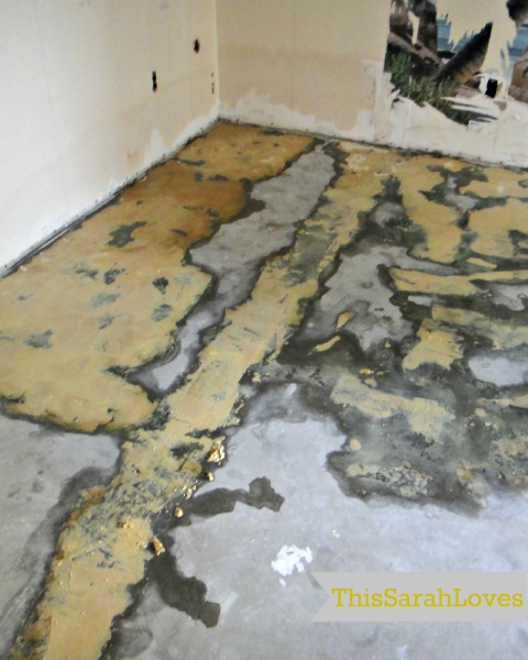 Lifting up the Linoleum - Part 3 - Getting off the Glue