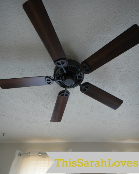 Master Bedroom - New Fan from Bed