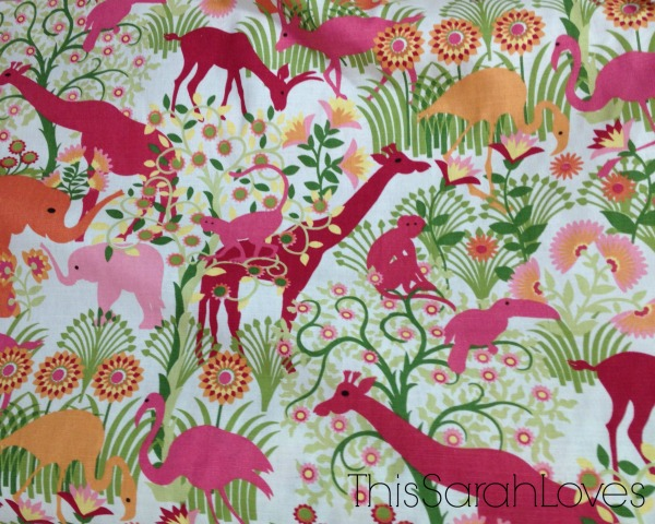 Bubblegum Fabric - Zoo Print