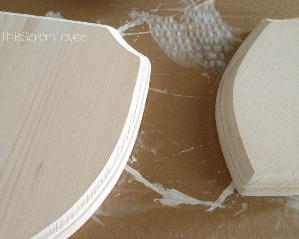 Rhino Hooks - White-washed Wooden Bases