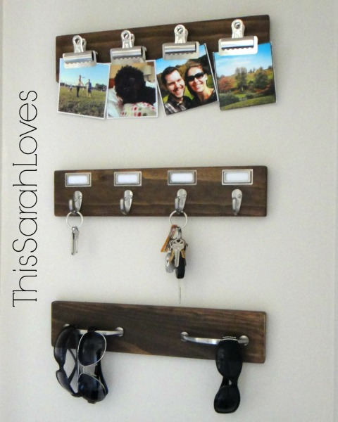 Entry Organization - DIY Hooks - Detail