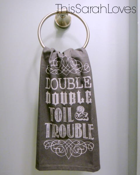Halloween - Toil and Trouble Dish Towel 2 - #thissarahloves