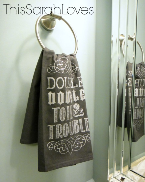 Halloween - Toil and Trouble Dish Towel - #thissarahloves