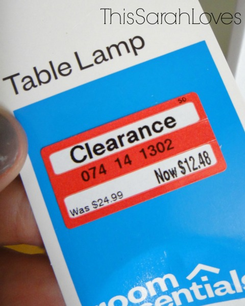 Target Lamps for the Basement - Price Tag